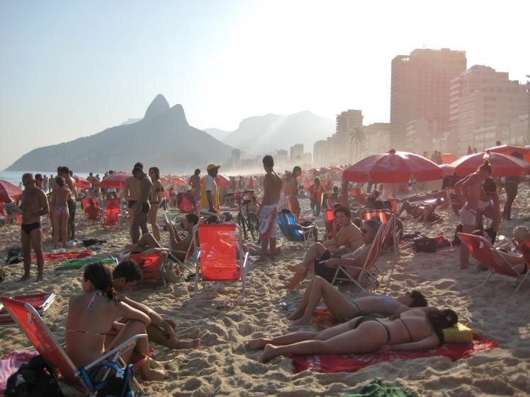 Ipanema Beach in Rio de Janeiro, Brazil