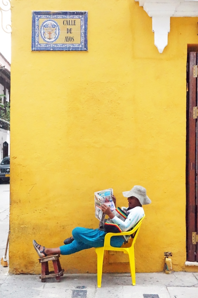 Cartagena Woman Reading